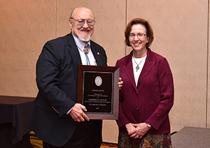Professor Larry Taylor received the highest honor awarded to a faculty member at this year's awards banquet.