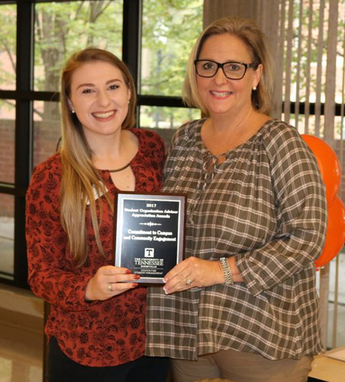 Holly Sullivan Honored for Work with Tennessee Speech and Debate Society